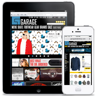 Garage Skate Shop  Our Work E-Commerce
