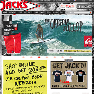 Jack's Surfboards  Our Work E-Commerce