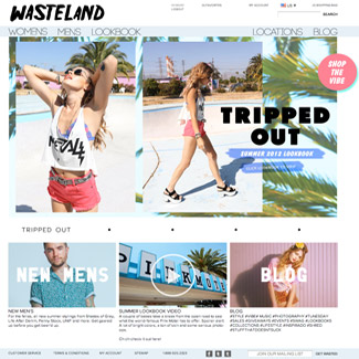 Wasteland Clothing  Our Work E-Commerce
