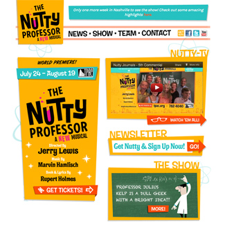 Nutty Professor Musical  Our Work Websites