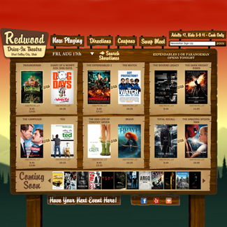 Redwood Drive-In Theatre  Our Work Websites