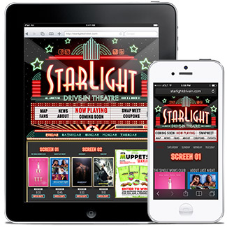 Starlight Drive-In Theatre  Our Work Websites