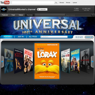 Universal Youtube Channel  Our Work Websites