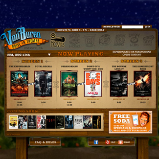 Van Buren Drive-In Theatre  Our Work Websites